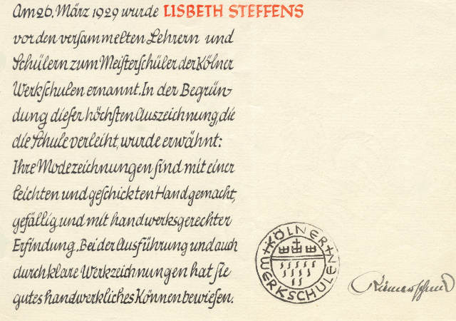 master-student-award-certificate-for-elisabeth-lisbeth-steffens-by-cologne-crafts-school